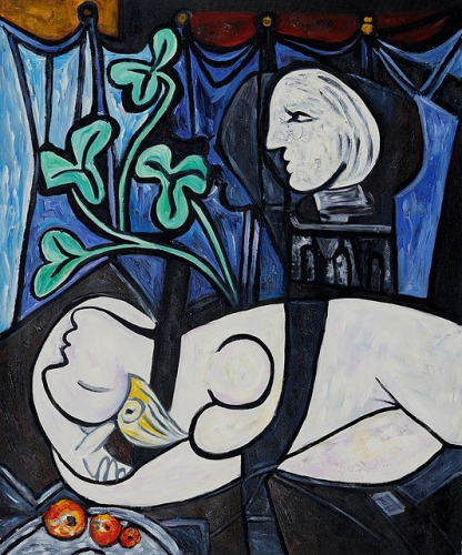Nude, Green Leaves and Bust – Pablo Picasso